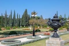 Trädgård av den Bahai världsmitten acquittancen royaltyfri bild