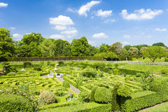 Trädgård av det Hatfield huset Arkivbild
