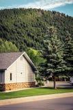 Trädgård av ett amerikanskt hus Arkivbild