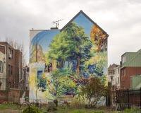 `-Trädgård av fröjd` av David Guinn, Philadelphia, Pennsylvania Arkivfoto