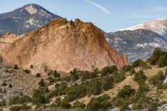 Trädgård av gudarna Colorado Springs Arkivfoto