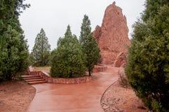 Trädgård av gudarna Colorado Springs Royaltyfri Fotografi
