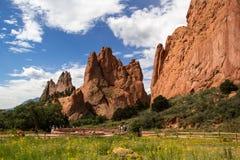 Trädgård av gudarna i Colorado Springs Arkivfoton