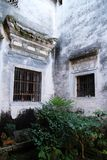 Trädgård av hemmet i Anhui, Kina Arkivfoton