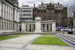 Trädgård av minnet och cenotafiet, Belfast Arkivfoto