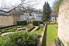 Trädgård av slotten i Saarbrucken Royaltyfri Bild