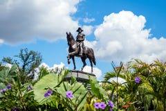 Trädgård Boston för George Washington monument offentligt royaltyfri bild
