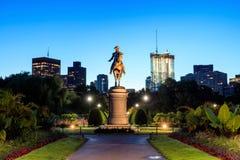 Trädgård Boston för George Washington monument offentligt fotografering för bildbyråer