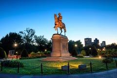 Trädgård Boston för George Washington monument offentligt arkivfoto