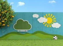 Trädgård för barn Arkivbild