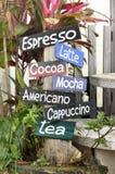 Trädgård för färg för kaffemenyflik Royaltyfri Foto