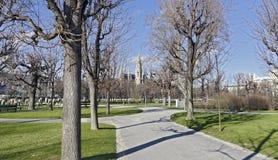 Trädgård för folk` s och stadshus av Wien Fotografering för Bildbyråer