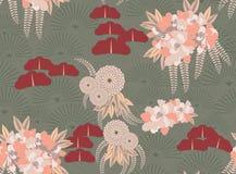 Trädgård för japan för astergräsplanblomma Arkivfoton