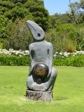 Trädgård för Kirstenbosch botanisk stenskulptur Arkivfoto