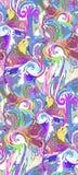 Trädgård för modell för violett purpurfärgad abstrakt färgrik för vektordesignblomma för konst för målning tapet för garnering sö vektor illustrationer