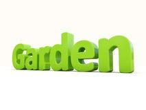 trädgård för ord 3d Royaltyfri Fotografi