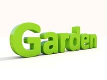 trädgård för ord 3d Royaltyfri Foto