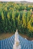 Trädgård för tre kungariken på Pattaya: Sikt från över royaltyfri bild