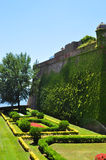 Trädgård i Barcelona Royaltyfri Fotografi