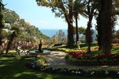 Trädgård i Capri, Italien Arkivfoto