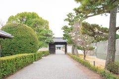 Trädgård i den Ninomaru slotten på den Nijo slotten i Kyoto Royaltyfri Bild