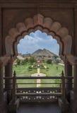 Trädgård i det Amer fortet royaltyfri fotografi