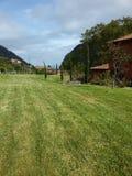 Trädgård i landshus fotografering för bildbyråer