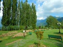 Trädgård i Srinagar-dropp Fotografering för Bildbyråer
