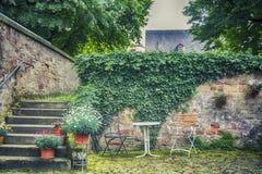 Trädgård i Trierstad Arkivfoton