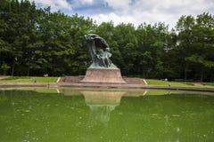 Trädgård i Warszawa, Polen Royaltyfri Fotografi