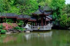 Trädgård-klassiska trädgårdar för vår av Suzhou Arkivfoto