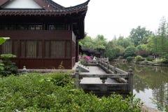 Trädgård-klassiska trädgårdar för vår av Suzhou Arkivbild