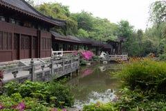 Trädgård-klassiska trädgårdar för vår av Suzhou Fotografering för Bildbyråer