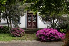 Trädgård-klassiska trädgårdar för vår av Suzhou Arkivfoton