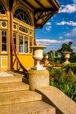 Trädgård och pagod på Patterson Park i Baltimore, Maryland Fotografering för Bildbyråer