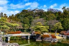 Trädgård på Himeji royaltyfri fotografi