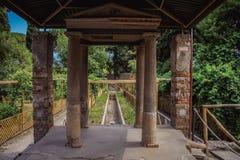Trädgård på Pompei Royaltyfri Fotografi