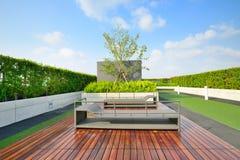 Trädgård på tak Royaltyfri Bild