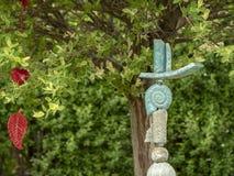 Trädgård som är tele som dekoration arkivbild