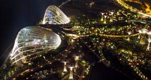 Trädgård vid fjärden, Singapore. Fotografering för Bildbyråer