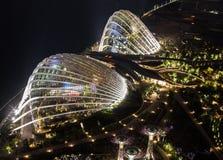 Trädgård vid fjärden, Singapore. Royaltyfri Foto