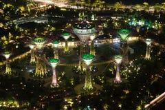 Trädgård vid fjärden, Singapore. Royaltyfria Bilder