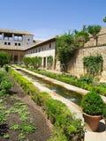 Trädgårdar av Alhambra, Granada, Spanien Royaltyfri Bild