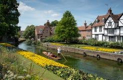 Trädgårdar av Canterbury, Kentcape royaltyfria foton