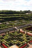 Trädgårdar av Château Villandry Arkivbild