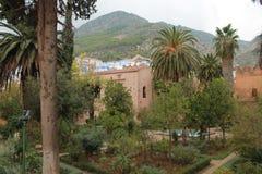 Trädgårdar av den Chefchaouen `en s Kasbah Royaltyfria Bilder