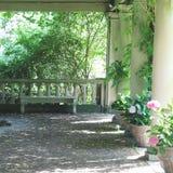 Trädgårdar av det Eastman huset Royaltyfri Foto