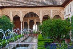Trädgårdar av Generalifen i Spanien Royaltyfria Foton