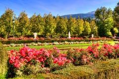 Trädgårdar av La Granja de san Ildefonso, Segovia, Castile och Leon, Spanien arkivfoton