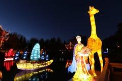 """Trädgårdar av Ljus-Zheng honom †""""en resa av upptäckten Arkivfoto"""